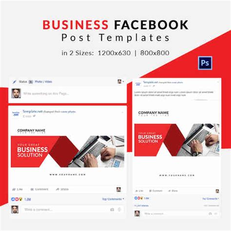 10 Free Facebook Post Templates Business Travel Fashion Free Premium Templates Post Template