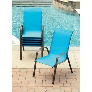essential garden bartlett solid blue stack chair outdoor