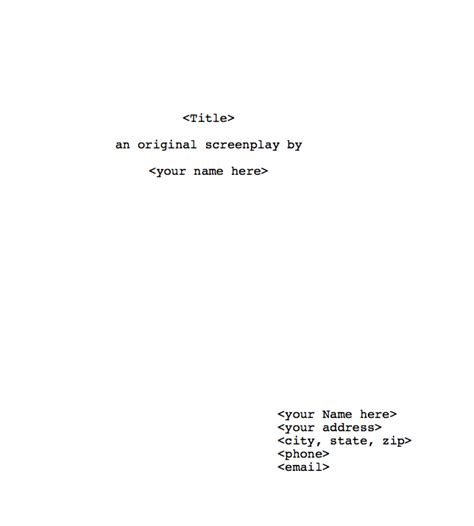 script title page template related keywords suggestions for script title page