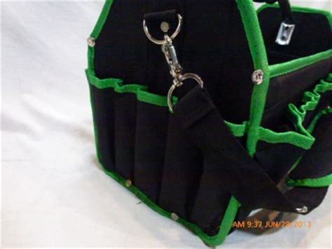 commercial electric tool box tote bag w tool sets green