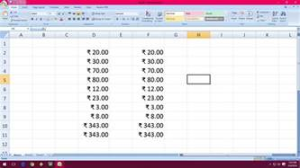 Adding An Automatic Outline In Excel 2010 by Learn New Things How To Auto Add Indian Rupee Symbol In Ms Excel