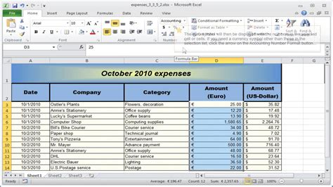formal email layout exle the excel number format