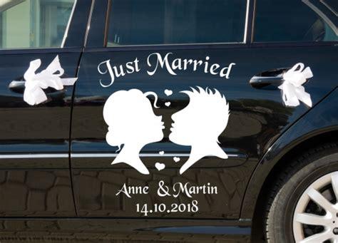 Aufkleber Sticker Hochzeit by Autoaufkleber Hochzeit Silhouette Brautpaar