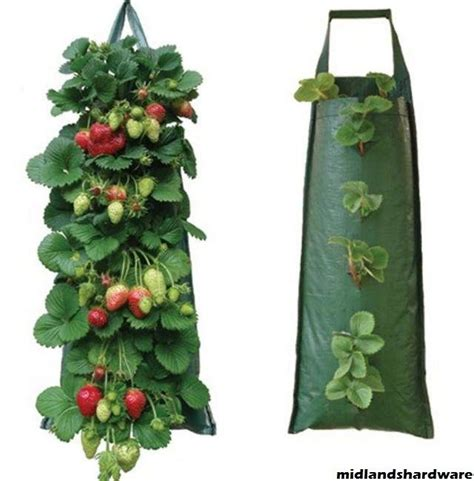 6 x fabric hanging planter grow bag pouch tomato herbs