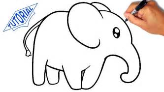how to draw a doodle elephant how to draw an elephant for simple