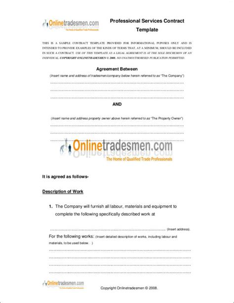 professional services agreement template free difference between a contract and an agreement templates