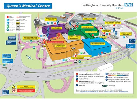Qmc Floor Plan by Wayfinding Amp Maps Nottingham University Hospitals Nhs Trust