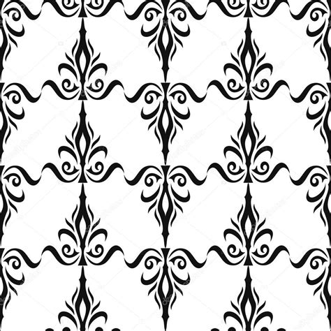 black and white royal wallpaper damasco padr 227 o floral sem emenda papel de parede real