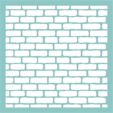 12 quot x 12 quot brick wall pattern template stencil for use on