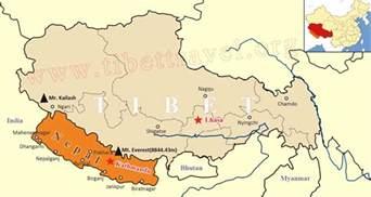 in the map tibet nepal map lhasa to kathmandu map tibet nepal