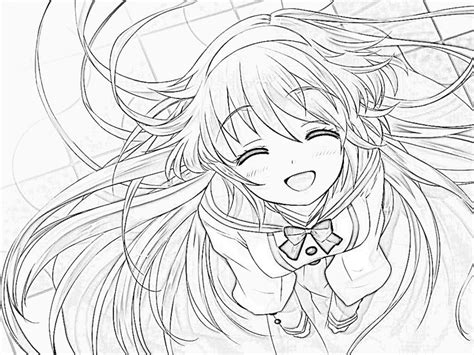 cute anime girl coloring page coloring pages 608