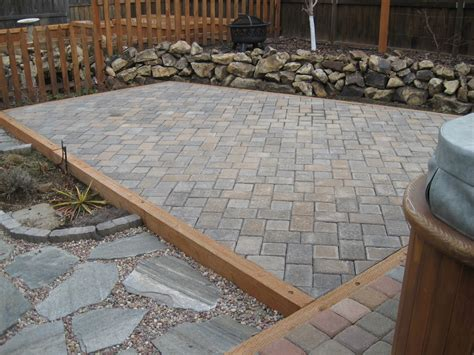 Paver Patio Edging Dwell Concepts Paver Patio