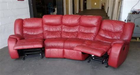 red leather recliner corner sofa red leather curved corner recliner rocker sofa we deliver