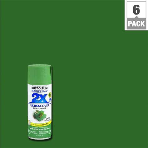 spray painter australia rust oleum painter s touch 2x 12 oz satin moss green