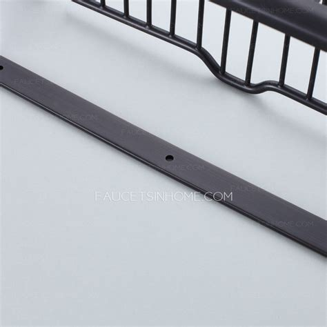 rubbed bronze bathroom shelves 45cm black rectangle wire rubbed bronze hanging