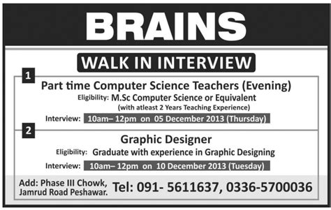 graphic designer job peshawar brains job part time