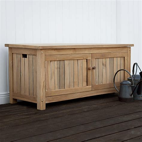 teak bench with storage keymar teak outdoor storage bench 4 ft or 5 ft outdoor