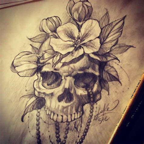 tattoo pencil drawings realistic skull sketch from sake realism realistic