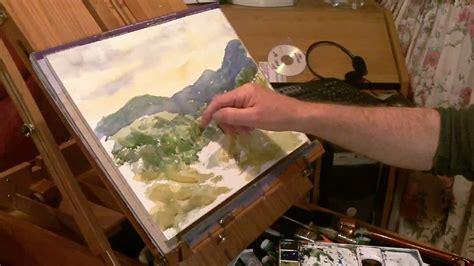 watercolor landscape tutorial youtube watercolor landscape tutorial lesson rough brush method