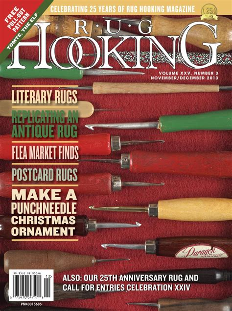 rug hooking magazine rug hooking magazine november december 2013 free us shipping