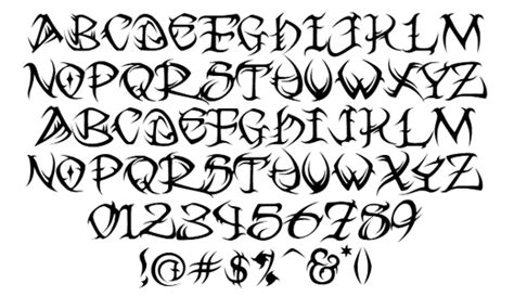 tribal tattoo fonts tribal lettering maker www pixshark images