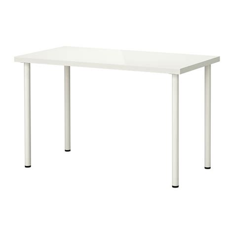 linnmon adils table high gloss white white 120x60 cm ikea