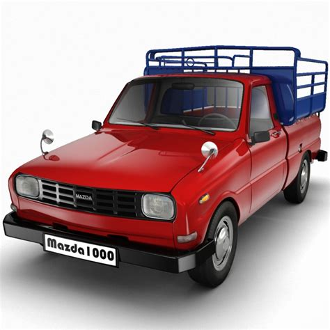 mazda truck models 3d model mazda 1000 pickup