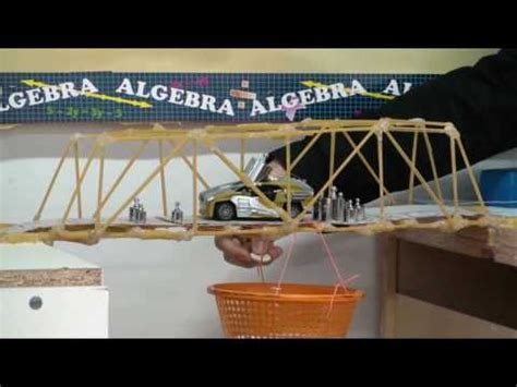 bridge design contest org bridge building contest youtube