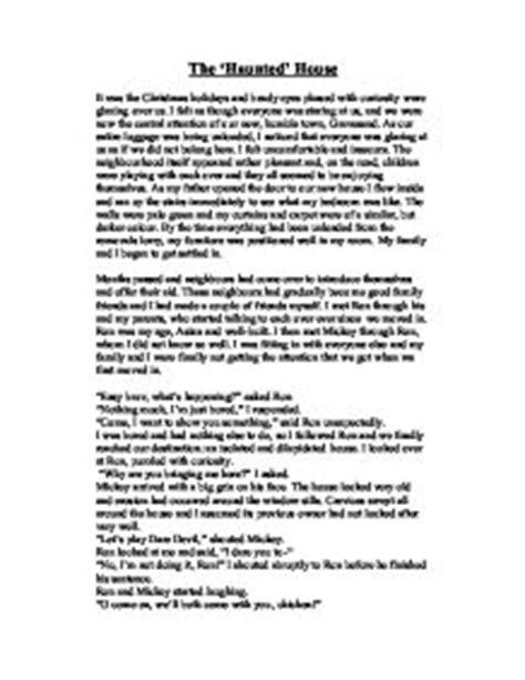 Haunted House Essay by Descriptive Essay Of The Haunted House