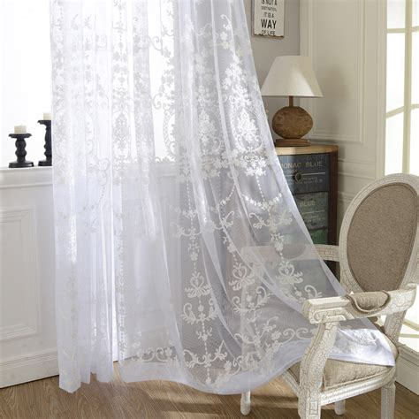 silk sheer curtains readymade embroidered sheer curtain lr suyuan elegant