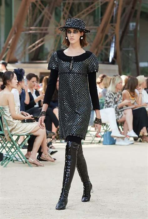 Haute Couture Chanel Autumnwinter 2008 Collection by Eiffel Tower Recreated At Chanel Haute Couture Fall Winter