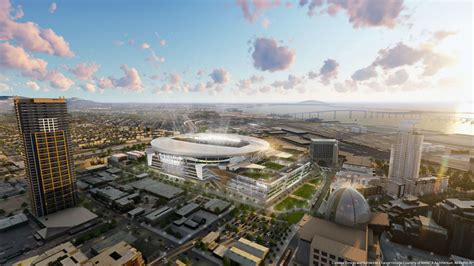chargers stadium new chargers unveil renderings for proposed downtown stadium