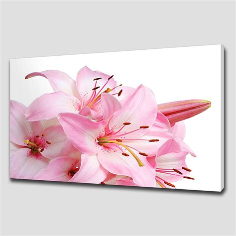 4 Pink Flower Wall D Cor Picture Print 20 top pink flower wall wall ideas