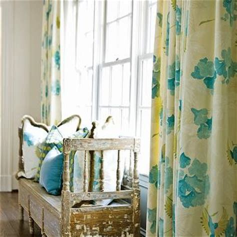 turquoise and yellow curtains turquoise curtains transitional bedroom my home ideas