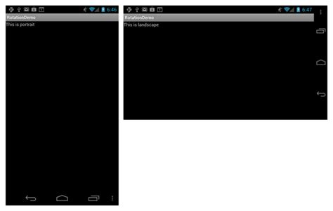 android landscape layout not working handling rotation xamarin