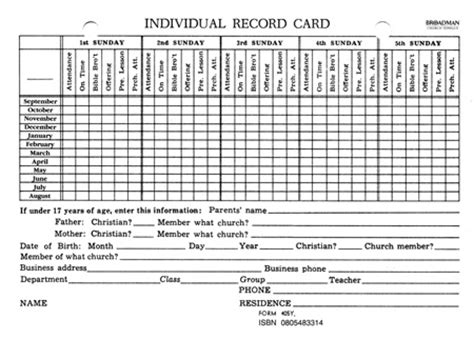 sunday school report card template sunday school report card template 28 images primary