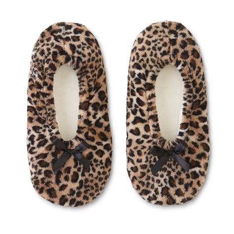 leopard slipper socks s slipper socks leopard print