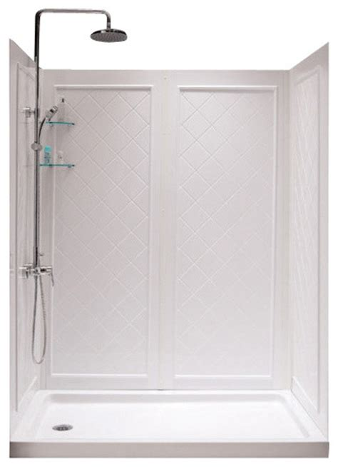 30 X 36 Shower Stall Dreamline Slimline 30 Quot X 60 Quot Base Left Drain And Qwall 5