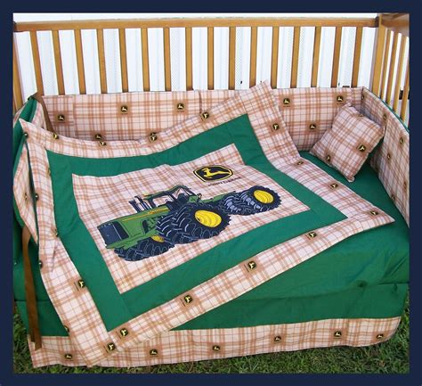 john deere bed set sale new 7 piece john deere crib bedding set with large
