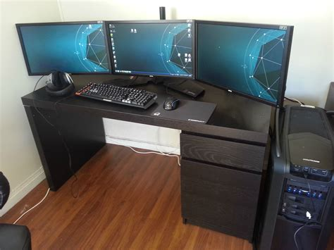 Gaming Desk Ikea Cool Computer Setups And Gaming Setups