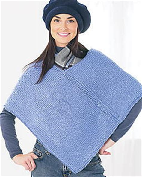 how to knit a poncho for beginners pattern two knit poncho pattern favecrafts