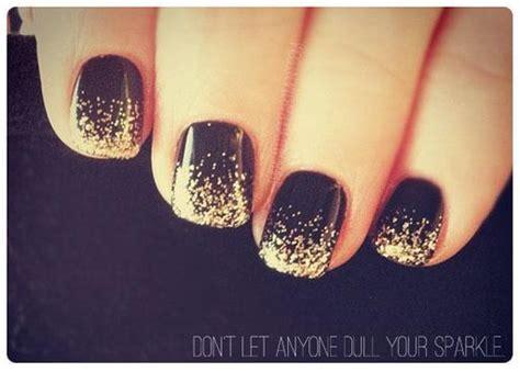 black and gold new years lindos modelos de unhas glitter passo a passo arteblog