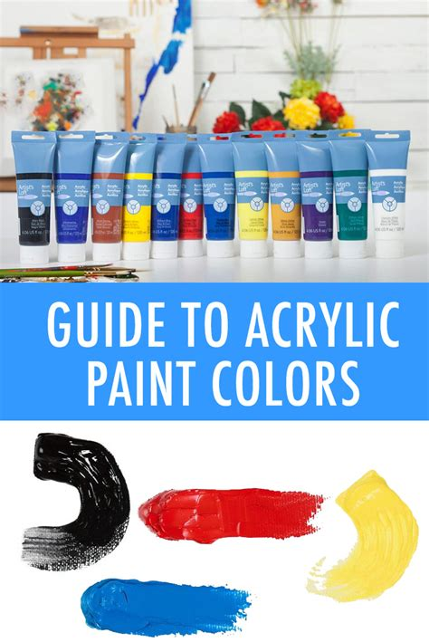 the ultimate guide to acrylic paint colors