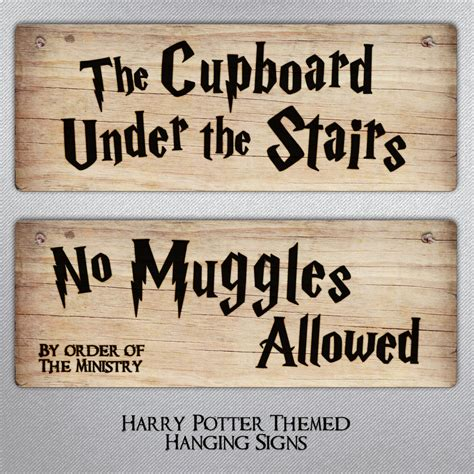 harry potter themed metal sign harry potter gift hanging