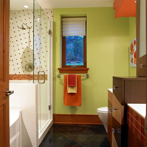 green and orange bathroom marvellous bathroom color combinations to take a look at