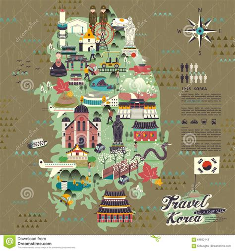 seoul map tourist attractions wonderful south korea travel map with attractions design