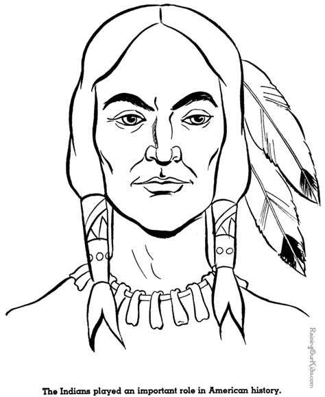 indian face coloring page free printable coloring pages for adults native american
