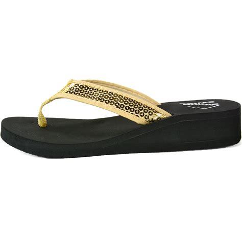s wedge shoes alpine swiss s wedge sandals sequin flip flops