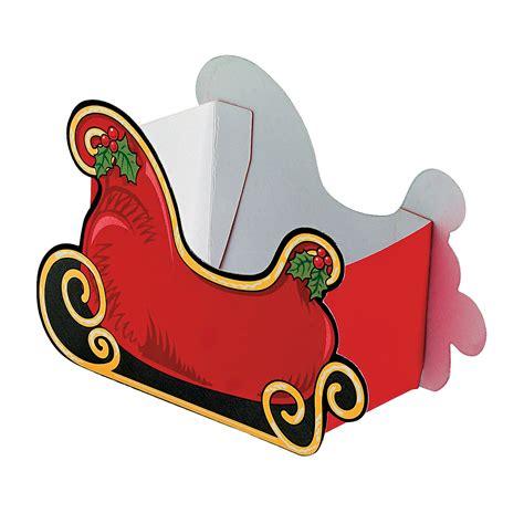 santa on the sleigh kids crafts santa sleigh treat boxes trading