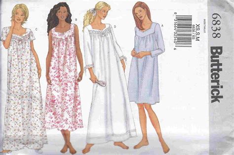 Sewing Pattern Nightie | related keywords suggestions for nightgown patterns